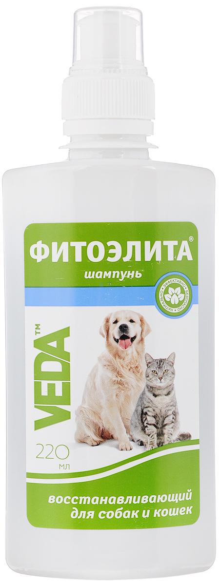Шампунь для собак и кошек VEDA Фитоэлита, восстанавливающий, 220 мл4605543006098Шампунь VEDA Фитоэлита - это эффективное средство гигиены для домашних животных на основе травы сушеницы топяной. Формула этого шампуня разработана специально для гигиеничной обработки животных с грибковыми заболеваниями кожи, демодекозом, воспалительными процессами на коже и для предотвращения заболевания при контакте с больными животными.Товар сертифицирован.