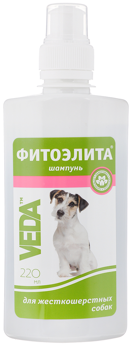 Шампунь для жесткошерстных собак VEDA Фитоэлита, 220 мл шампунь для короткошерстных кошек veda фитоэлита 220 мл
