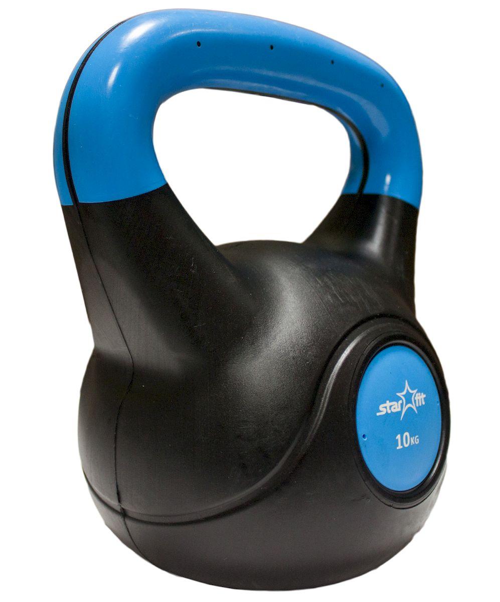 Гиря пластиковая Starfit DB-501, 10 кгУТ-00007113Гиря пластиковая Starfit- это разновидность гирь, удобных для использования в домашних условиях. Они более бесшумные, чем чугунные, более безопасные в использовании. Пластиковый корпус наполнен цементом. Используется в бодибилдинге, фитнесе и лечебной физкультуре. Данная гиря имеет индивидуальный дизайн и приятное яркое цветовое решение. Характеристики: Внутренний материал:цемент Покрытие:пластик