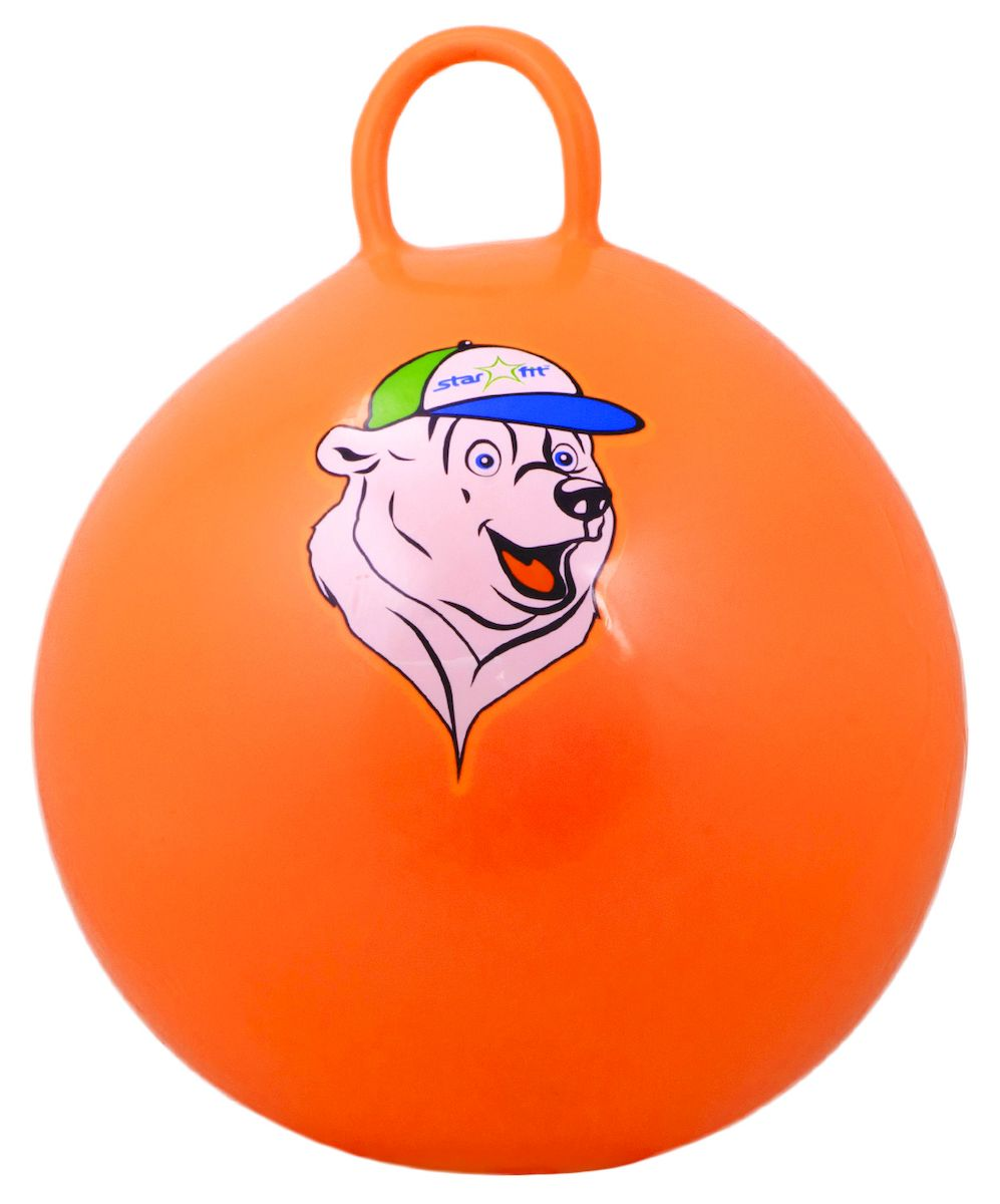 Мяч-попрыгун Starfit Медвежонок, с ручкой, цвет: оранжевый, белый, синий, 65 смУТ-00007267Мяч-попрыгун Star Fit Медвежонок предназначен для гимнастических и медицинских целей в лечебных упражнениях. Оснащен ручкой. Мяч прекрасно подходит для использования в домашних условиях. Данный мяч можно использовать для: реабилитации после травм и операций, стимуляции и релаксации мышечных тканей, улучшения кровообращения, лечении и профилактики сколиоза, при заболеваниях или повреждениях опорно-двигательного аппарата.Максимальный вес пользователя: 300 кг.