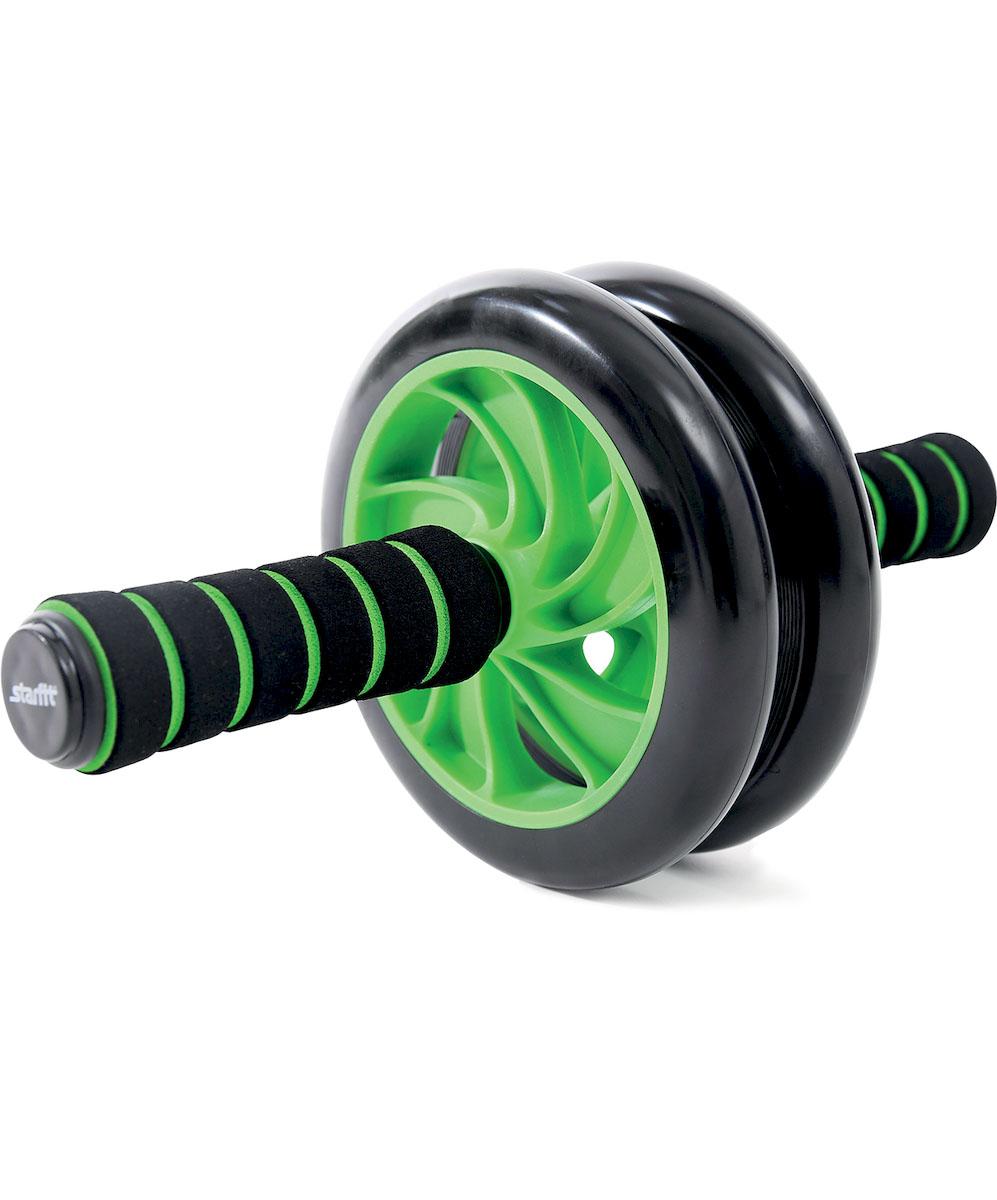 Ролик для пресса Starfit RL-102 PRO, цвет: зеленый, черный утяжелители starfit wt 201 цвет зеленый черный 1 кг 2 шт