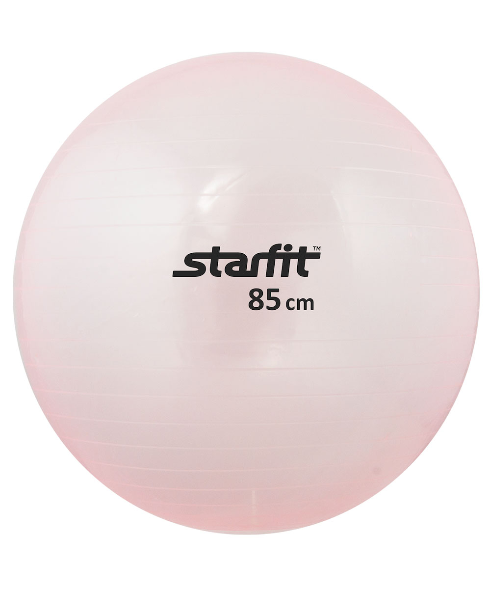 Мяч гимнастический Starfit, цвет: прозрачный, розовый, диаметр 85 смУТ-00009051Гимнастический мяч Star Fit является универсальным тренажером для всех групп мышц, помогает развить гибкость, исправить осанку, снимает чувство усталости в спине. Предназначен для гимнастических и медицинских целей в лечебных упражнениях. Прекрасно подходит для использования в домашних условиях. Данный мяч можно использовать для реабилитации после травм и операций, восстановления после перенесенного инсульта, стимуляции и релаксации мышечных тканей, улучшения кровообращения, лечении и профилактики сколиоза, при заболеваниях или повреждениях опорно-двигательного аппарата.