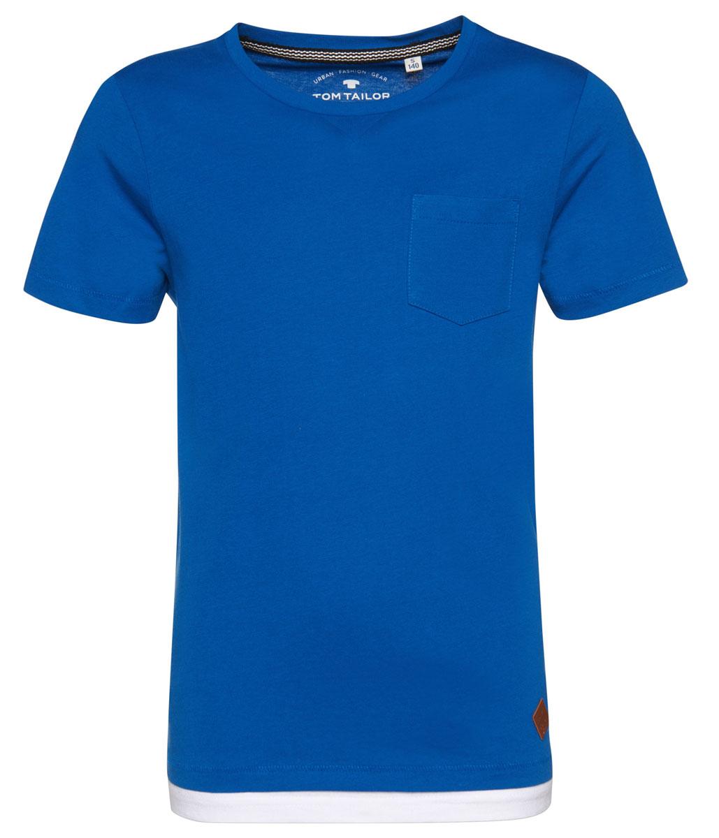 Футболка для мальчика Tom Tailor, цвет: синий. 1035492.40.30_6610. Размер 1521035492.40.30_6610Футболка выполнена из высококачественного материала. Модель с круглым вырезом горловины и короткими рукавами.