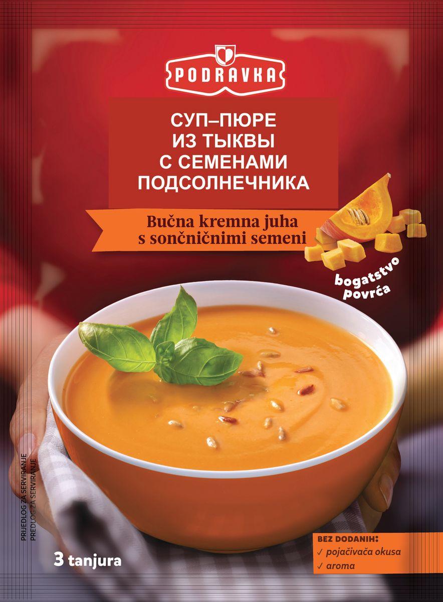 Podravka Суп-пюре из тыквы с семенами подсолнечника, 72 г