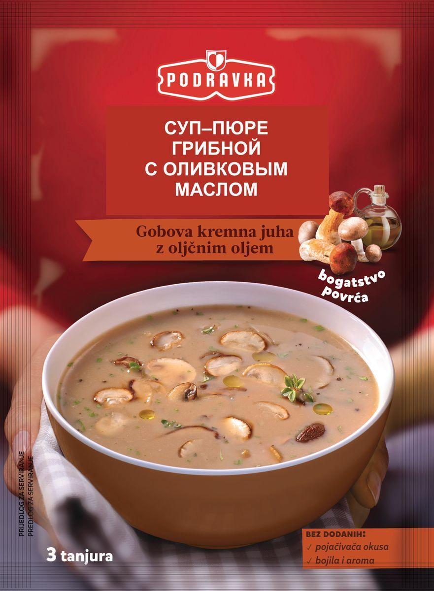 Podravka Cуп-пюре грибной с оливковым маслом, 63 г