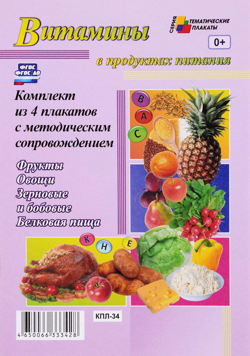 Витамины в продуктах питания (комплект из 4 плакатов с методическим сопровождением) инструменты комплект из 4 плакатов с методическим сопровождением