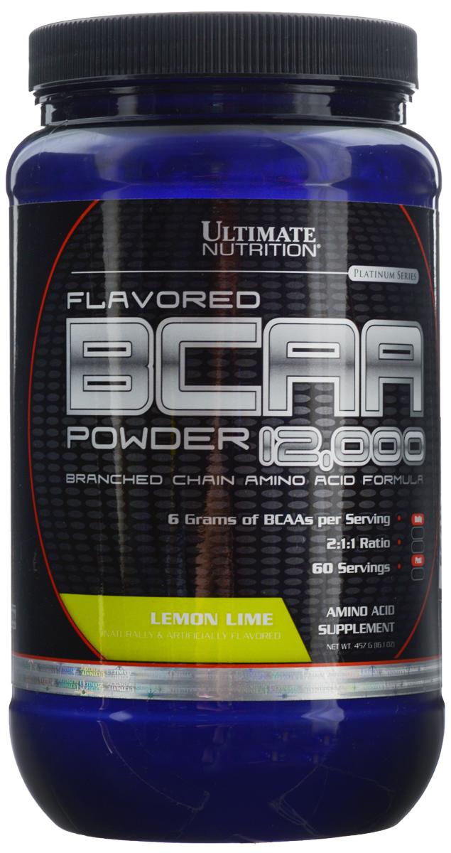 Аминокислоты Ultimate Nutrition BCAA 12,000, лимон, 457 г00817В одной порции Ultimate Nutrition BCAA 12,000 содержится 6 г BCAA. То, что аминокислоты в продукте находятся в свободном виде, позволяет им усваиваться с очень большой скоростью. Аминокислоты BCAA являются базовым продуктом для любого тренирующегося атлета, поскольку обладают очень важными свойствами для организма. Во-первых, это незаменимые аминокислоты, и потребность в них у организма велика. Во-вторых, эти аминокислоты строят 25% мышц человека. Это не мало. В-третьих, эти три аминокислоты участвуют в энергетическом обмене, организм использует их при крайне тяжелых нагрузках. При недостатке, он возьмет их из своих собственных нужд. Да, BCAA горят как углеводы, защищая наши мышцы. Именно поэтому их принимают перед тренировкой и после нее все, кто стремится нарастить мышечную массу или сделать ее более качественной.Состав: L-лейцин, L-изолейцин, L-валин, мальтодекстрин, лимонная кислота, вкусовой наполнитель, сукралоза.Товар сертифицирован.Как повысить эффективность тренировок с помощью спортивного питания? Статья OZON Гид