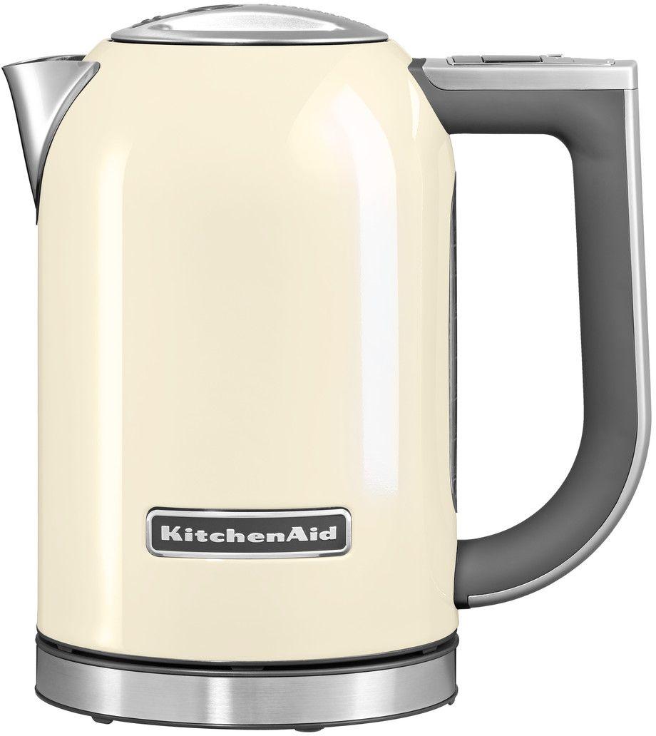 KitchenAid 5KEK1722EAC, Cream чайник электрический5KEK1722EACЭлектрический чайник KitchenAid 5KEK1722EAC объемом 1,7 литра - раскроет все ароматы любимого чая. В этом чайнике прекрасно сочетаются функциональность, элегантность и практичность. А различные цвета позволяют сочетать его с любым интерьером Вашей кухни.Давайте подробно рассмотрим его особенности:Емкость объемом 1,7 л. Можно использовать для приготовления большого количества воды Цифровой дисплей с 6 температурными режимами от 50° C до 100° C. Выберите подходящую температуру: горячая или кипящая для напитков и бульонов Умный индикатор температуры. Покажет актуальную температуру воды на дисплее, даже когда чайник не находится на своем основании Функция сохранения температуры. Поддерживает желаемую температуру в течение 30 минут, находясь на основании Стальной корпус с мягкой нескользящей ручкой. Надежный, прочный и удобный в использовании