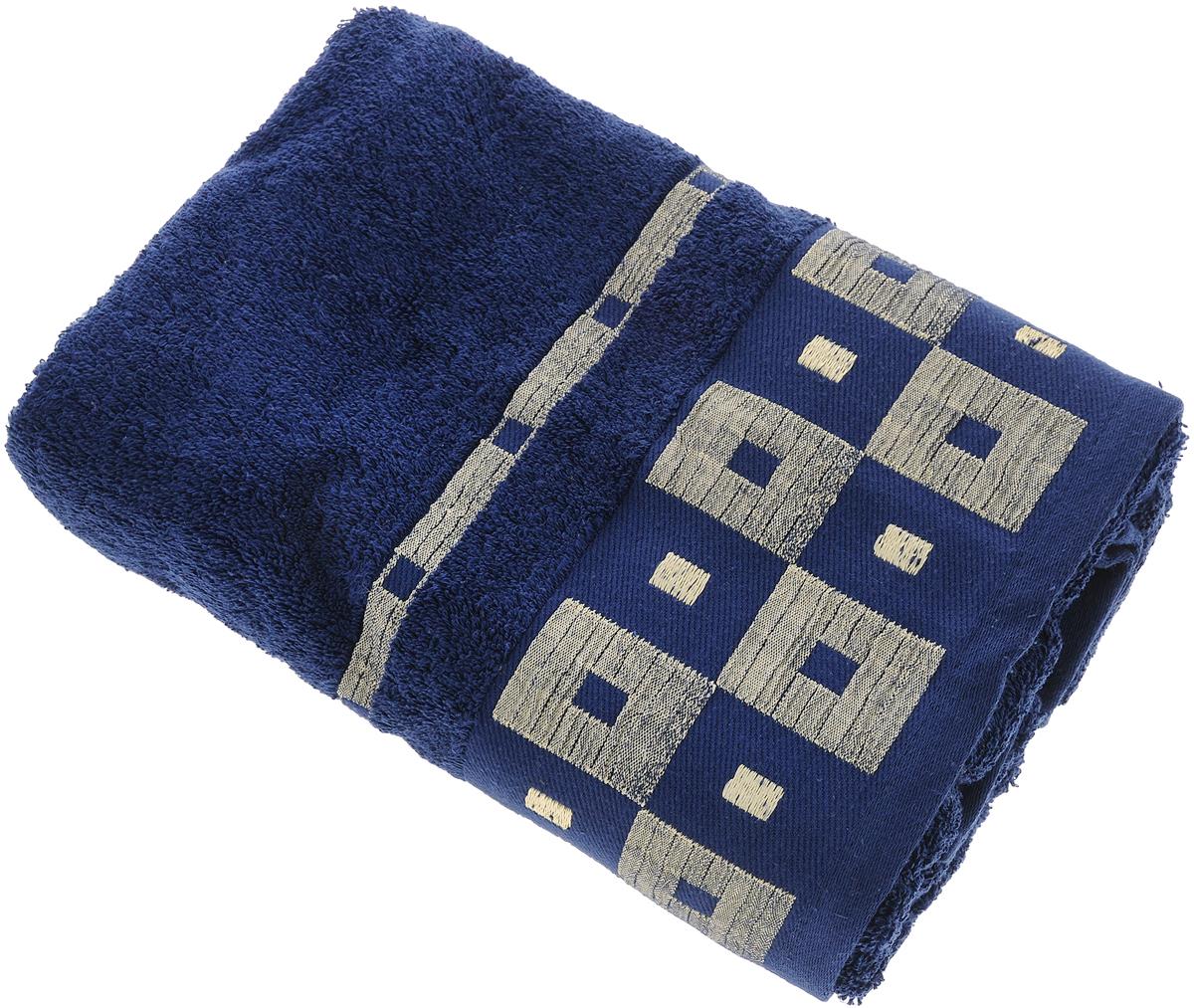 Полотенце Aisha Home Textile, цвет: синий, 70 х 140 смУзТ-ПМ-114-09-19кМахровые полотенца AISHA Home Textile идеальное сочетание цены и качества. Полотенца упакованы в стильную подарочную коробку. В состав входит только натуральное волокно - хлопок. Лаконичные бордюры подойдут для любого интерьера ванной комнаты. Полотенца прекрасно впитывает влагу и быстро сохнут. При соблюдении рекомендаций по уходу не линяют и не теряют форму даже после многократных стирок.Состав: 100% хлопок.