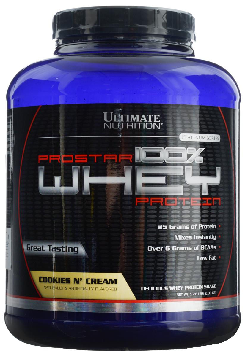 Протеин сывороточный Ultimate Nutrition Prostar Whey, печенье, 2,27 кг сывороточный протеин mychoice nutrition my whey pro печенье 825 г