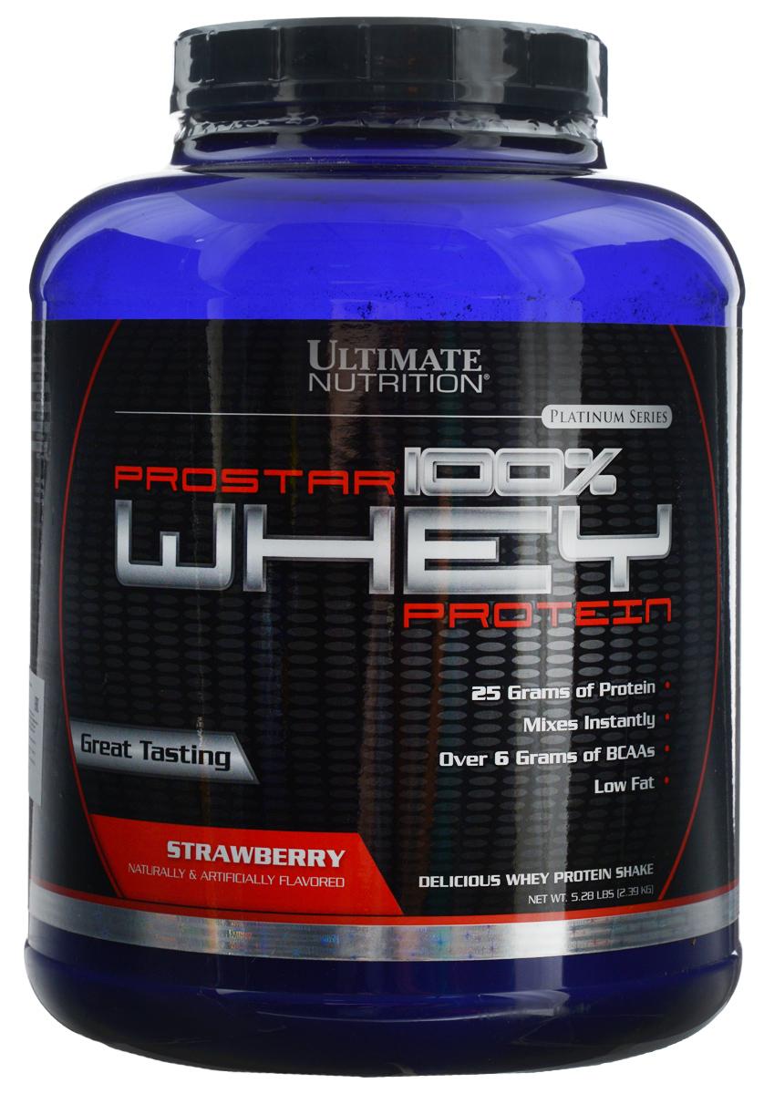 Протеин сывороточный Ultimate Nutrition Prostar Whey, клубника, 2,27 кг150Протеин, пожалуй, наиболее важный элемент питания для всех спортсменов, и особенно важный для тех, кто имеет интенсивные, длительныетренировки на силу и выносливость. Белки это материал для наращивания мышечной массы и они необходимы для роста и развития. ПротеинUltimate Nutrition Prostar Whey включает все незаменимые и заменимые аминокислоты для построения мышц после интенсивных физическихупражнений. Это одна из лучших белковых смесей еще и потому, что сырье проходит специальную высокотехнологичную подготовку, позволяющуюсохранить все полезные свойства сыворотки, что дает возможность не только набирать сухую мышечную массу, но и получать другиепреимущества от употребления сывороточного белка. В частности, поскольку физические упражнения могут понижать иммунитет, Ultimate NutritionProstar Whey поможет в решении задачи его повышения. Его могут употреблять не только спортсмены, но и все люди, стремящиеся вестиздоровый образ жизни. Все, кто следит за своим питанием. Средство отлично дополнит любой рацион питания. Состав: протеиновая смесь (изолят сывороточного протеина, концентрат сывороточного протеина и сывороточные пептиды), натуральныеи искусственные ароматизаторы, сукралоза, ацесульфам калия, соевый лецитин. Товар сертифицирован.