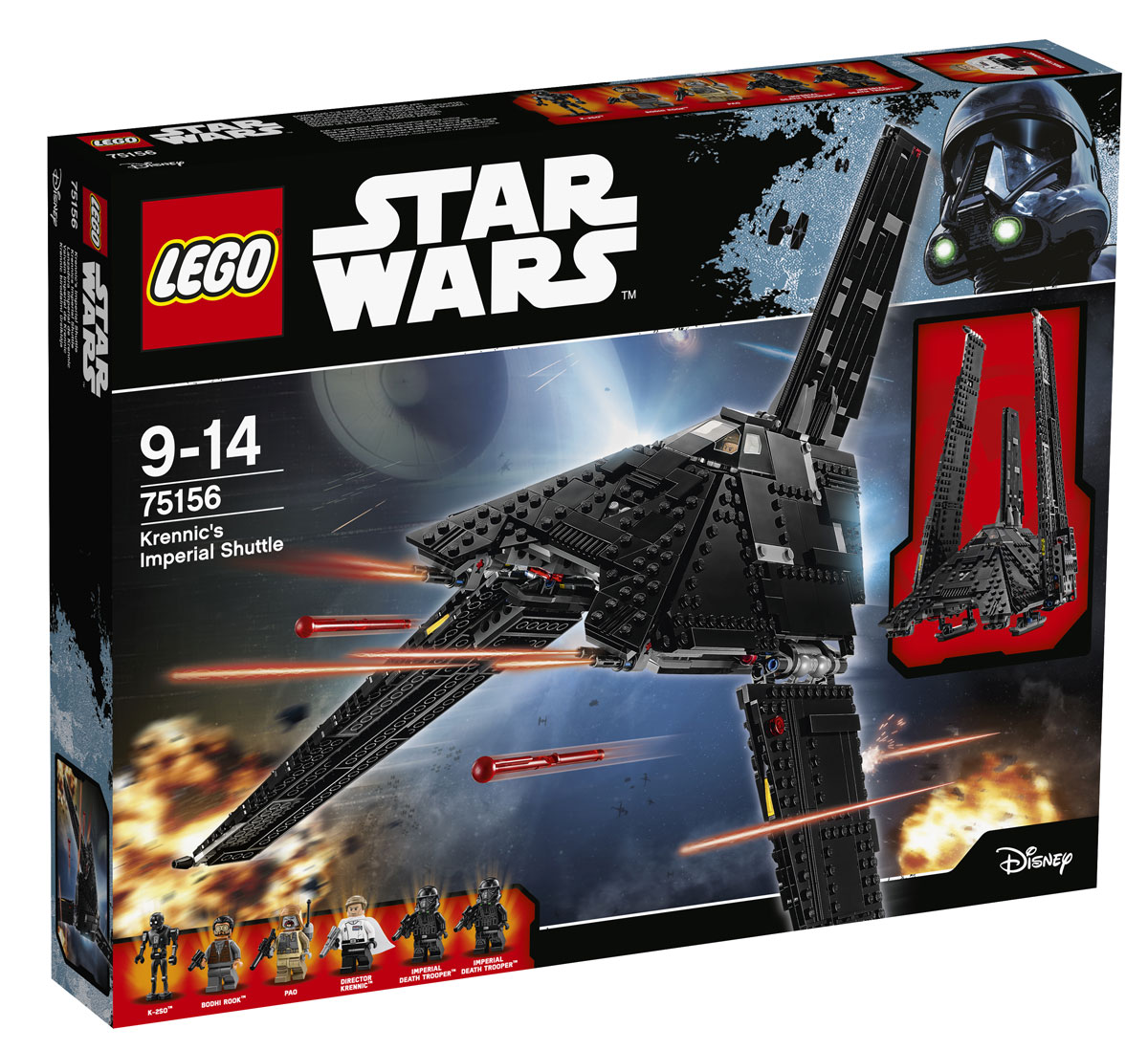 LEGO Star Wars Конструктор Имперский шаттл Кренника 75156 конструкторы lego lego star wars tm микроистребитель имперский шаттл кренника 75163