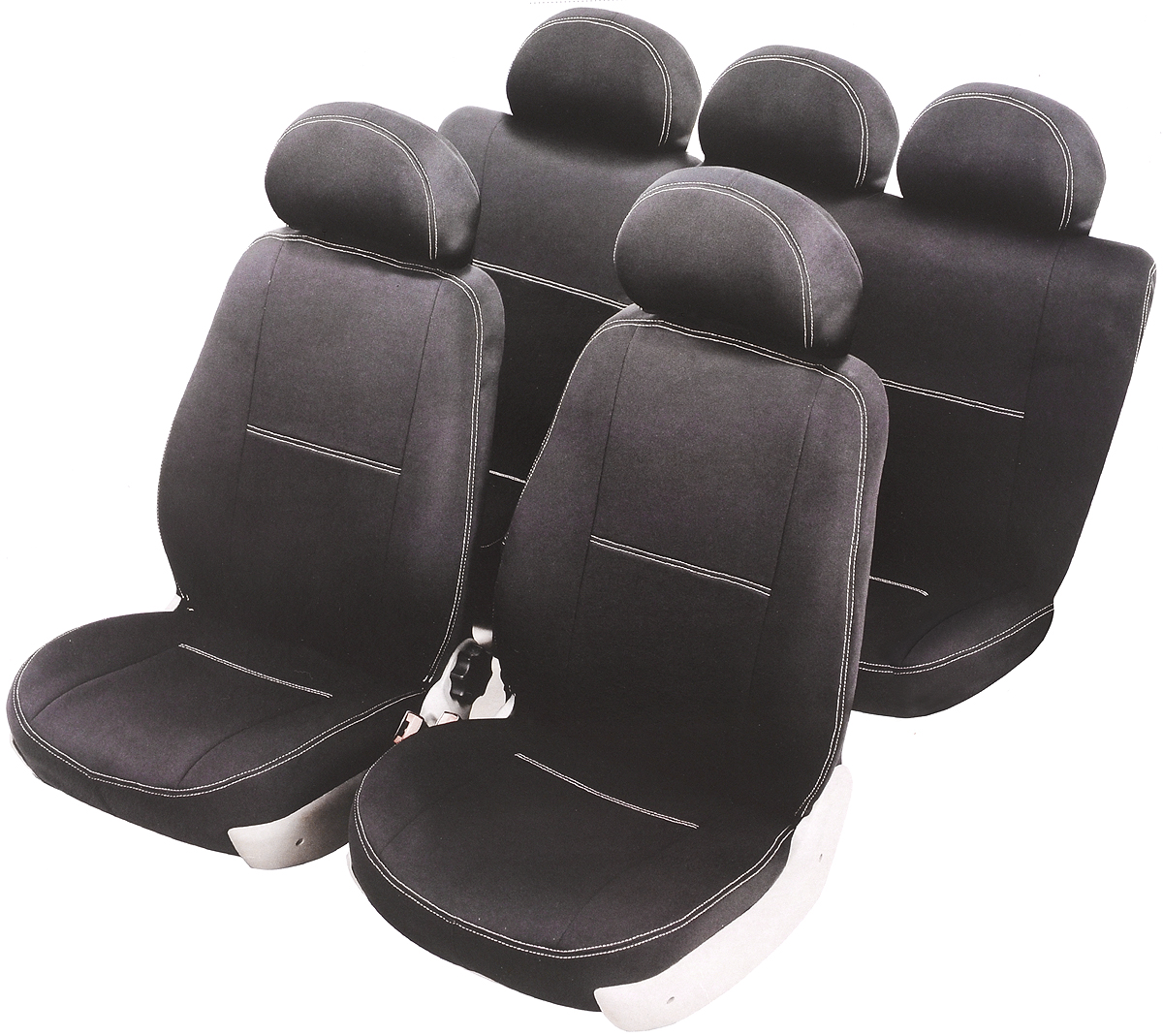 Чехлы автомобильные Azard Standard, для Renault Logan 2004-2013 седан, 8 предметовA4013571Модельные чехлы из полиэстера Azard Standard. Разработаны в РФ индивидуально для каждого автомобиля.Чехлы Azard Standard серийно выпускаются на собственном швейном производстве в России.Чехлы идеально повторяют штатную форму сидений и выглядят как оригинальная обивка сидений. Для простоты установки используется липучка Velcro, учтены все технологические отверстия.Чехлы сохраняют полную функциональность салона - трансформация сидений, возможность установки детских кресел ISOFIX, не препятствуют работе подушек безопасности AIRBAG и подогрева сидений.Дизайн чехлов Azard Standard приближен к оригинальной обивке салона. Декоративная контрастная прострочка по периметру авточехлов придает стильный и изысканный внешний вид интерьеру автомобиля.Чехлы Azard Standard изготовлены из полиэстера, триплированного огнеупорным поролоном толщиной 3 мм, за счет чего чехол приобретает дополнительную мягкость. Подложка из спанбонда сохраняет свойства поролона и предотвращает его разрушение.Авточехлы Azard Standard просты в уходе - загрязнения легко удаляются влажной тканью.Комплектация: 2 передние спинки, 2 передних сидения, 1 задняя спинка, 1 заднее сиденье, 2 подголовника.