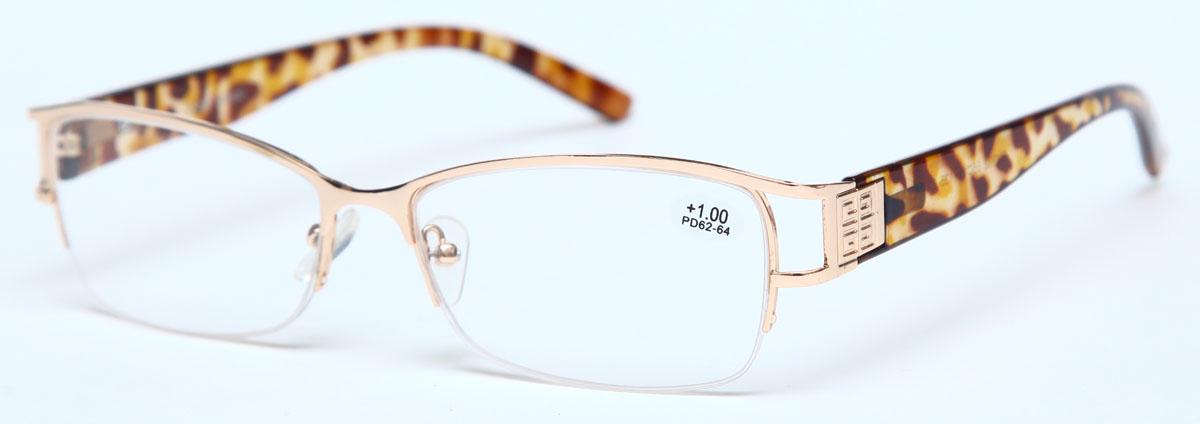 Proffi Home Очки корригирующие (для чтения) 302 Fabia Monti +1.00, цвет: золотой - Корригирующие очки