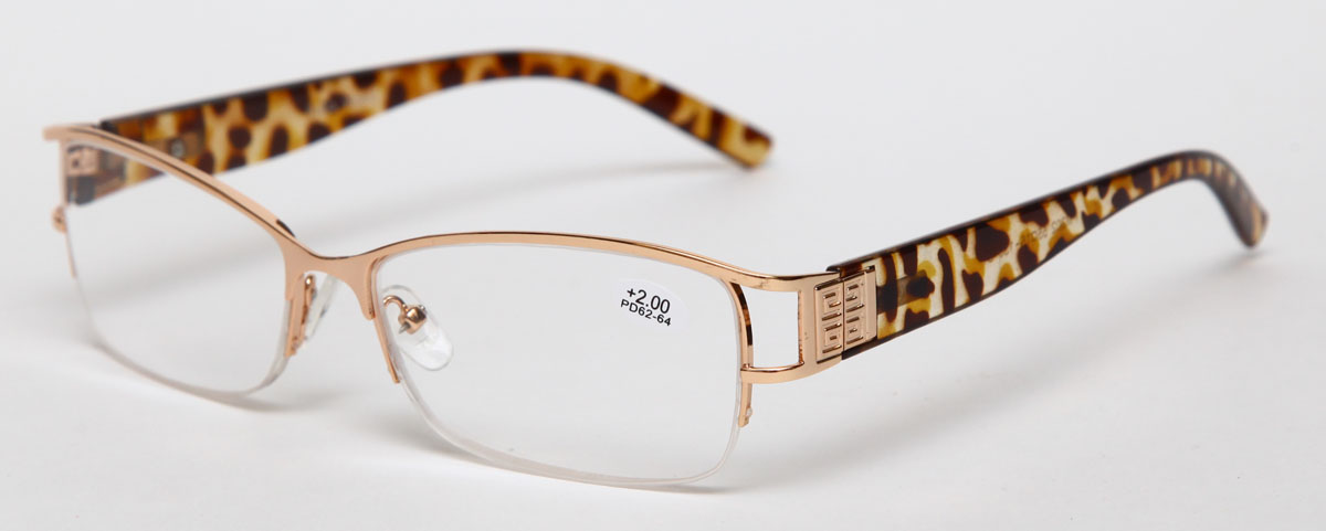 Proffi Home Очки корригирующие (для чтения) 302 Fabia Monti +2.00, цвет: золотой - Корригирующие очки