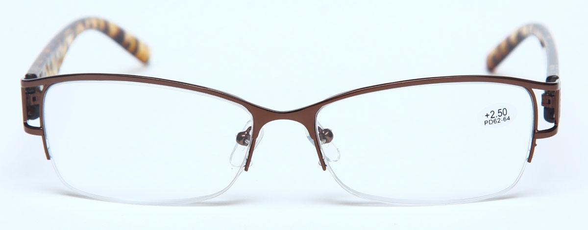 Proffi HomeОчки корригирующие (для чтения) 302 Fabia Monti +2. 50, цвет:  коричневый Оправа очков легкая и не создает никакого дискомфорта.. Они удобны...