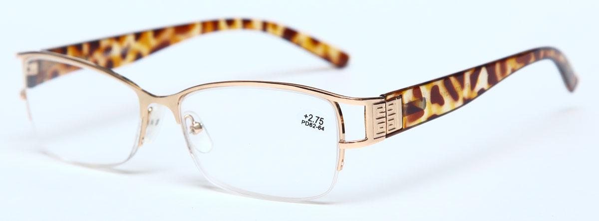 Proffi Home Очки корригирующие (для чтения) 302 Fabia Monti +2.75, цвет: золотой - Корригирующие очки