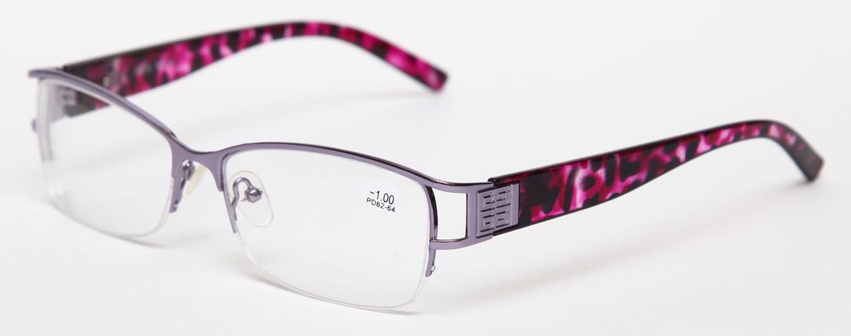 Proffi Home Очки корригирующие 302 Fabia Monti -1.00, цвет: серыйPH7373Надев эти очки, вы сможете четко видеть пространство впереди себя. Они удобны при чтении. Оправа очков легкая и не создает никакого дискомфорта.