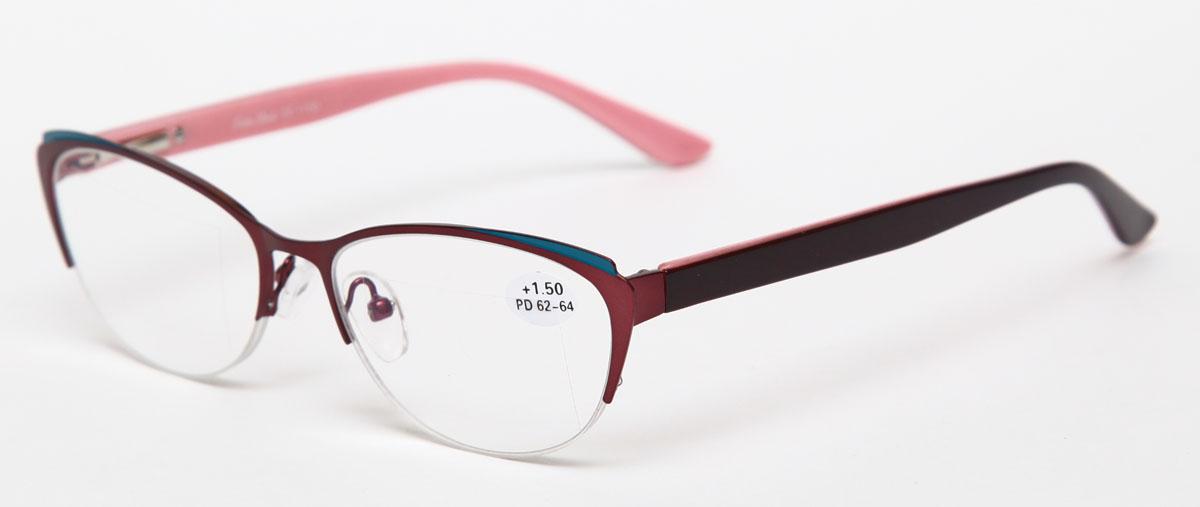 Proffi Home Очки корригирующие (для чтения) 830 Fabia Monti +1.50, цвет: бордовый - Корригирующие очки