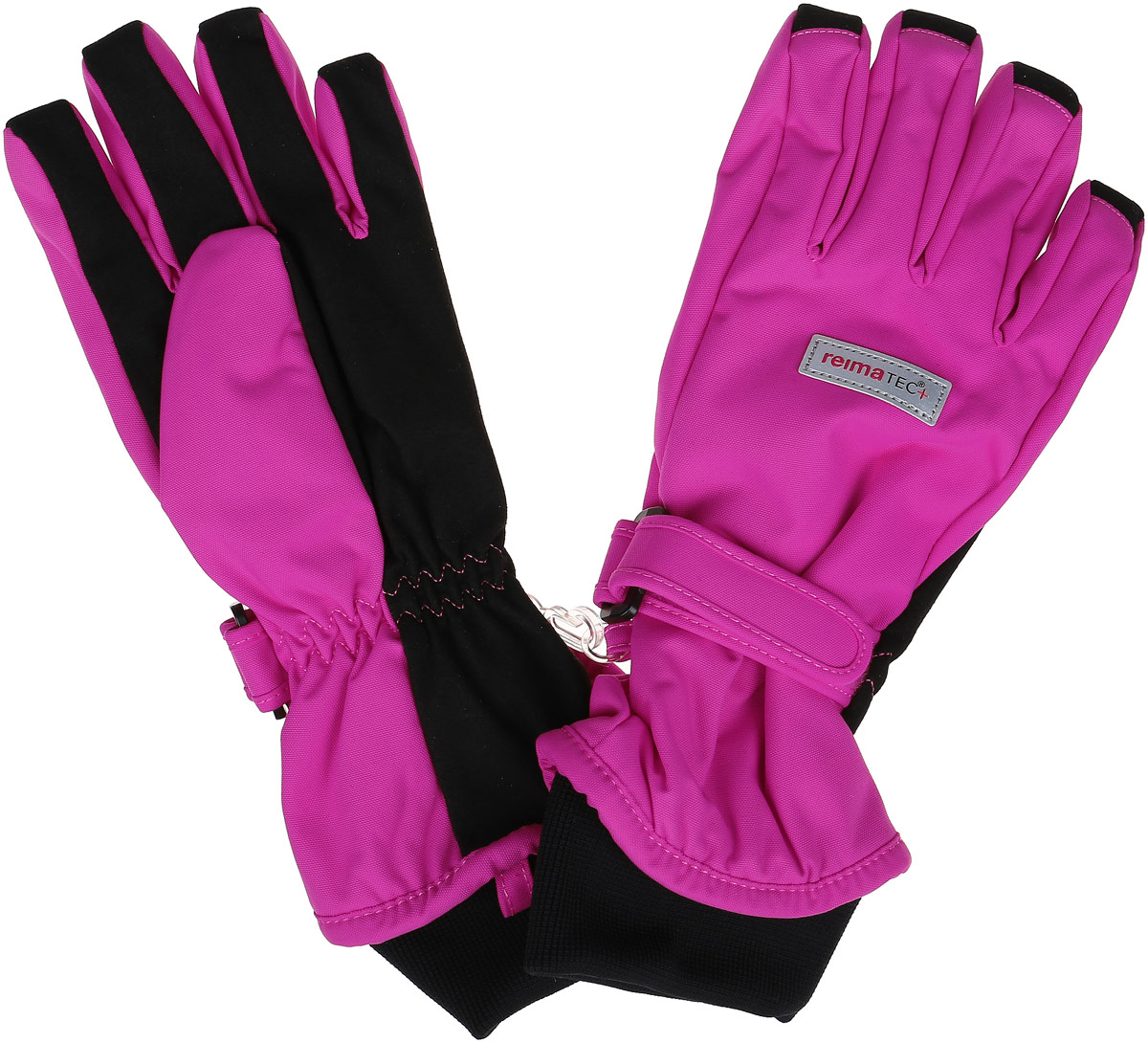Перчатки детские Reima Reima Reimatec+ Pivo, цвет: розовый. 527255-4620. Размер 7527255_4620Детские перчатки Reima Reima Reimatec+ Pivo станут идеальным вариантом для холодной зимней погоды. На подкладке используется высококачественный полиэстер, который хорошо удерживает тепло.Для большего удобства на запястьях перчатки дополнены хлястиками на липучках с внешней стороны, а на ладошках, кончиках пальцев и с внутренней стороны большого пальца - усиленными водонепроницаемыми вставками Hipora. Теплая флисовая подкладка дарит коже ощущение комфорта и уюта. С внешней стороны перчатки оформлены светоотражающими нашивками с логотипом бренда.Перчатки станут идеальным вариантом для прохладной погоды, в них ребенку будет тепло и комфортно. Водонепроницаемость: Waterpillar over 10 000 mm