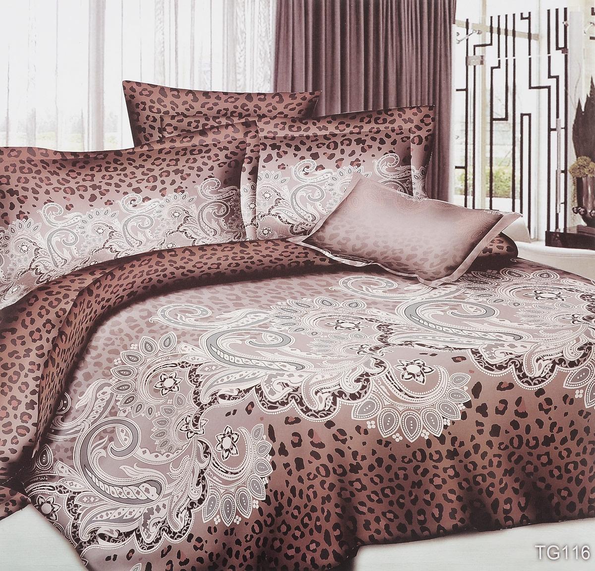 Комплект белья ЭГО Гламур, 1,5-спальный, наволочки 70x70