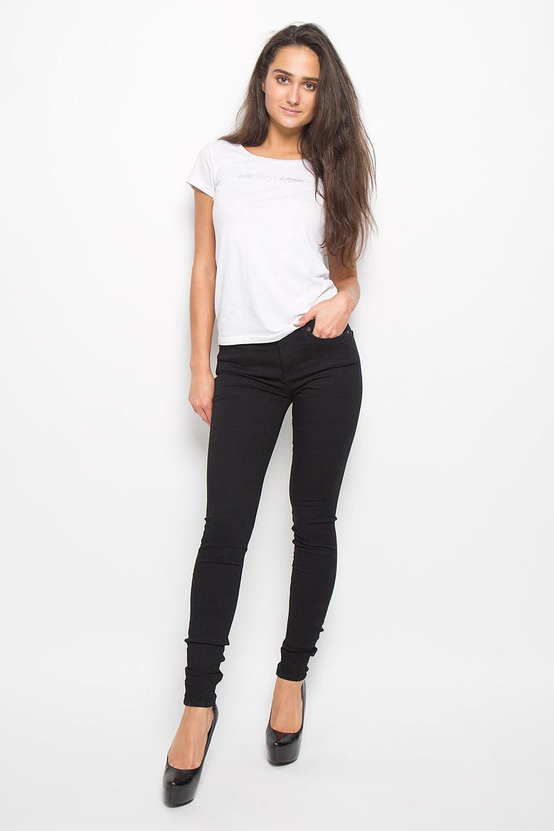 Джинсы женские Selected Femme, цвет: черный. 16049133. Размер 30-32 (46/48-32) джинсы женские selected femme цвет темно серый 16054240 размер 29 32 46 32