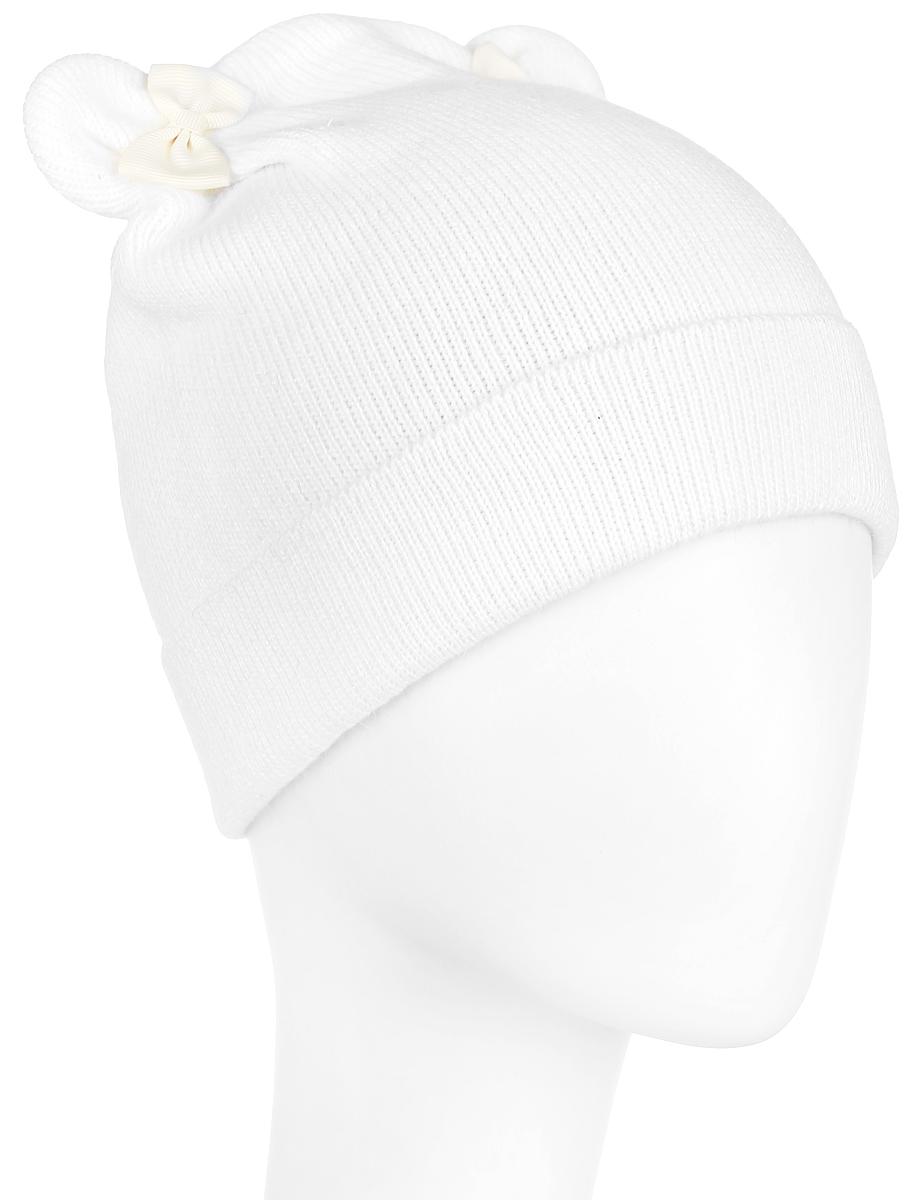 Шапка женская Finn Flare, цвет: белый. A16-32123_711. Размер 56A16-32123_711Вязаная женская шапка Finn Flare отлично подойдет для модниц в холодное время года. Изготовленная из полиамида с добавлением вискозы и ангоры, она мягкая и приятная на ощупь, обладает хорошими дышащими свойствами и максимально удерживает тепло. Шапочка плотно облегает голову, что обеспечивает надежную защиту от ветра и мороза.Модель шапки с ушками и бантиками. Дополнено изделие небольшой металлической пластиной с названием бренда.Такая шапка не только теплый головной убор, но и стильный аксессуар. Она подчеркнет ваш образ и индивидуальность!Уважаемые клиенты!Размер, доступный для заказа, является обхватом головы.