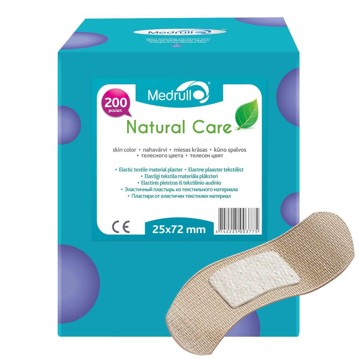 Medrull Набор пластырей  Natural Care , 2,5х7,2 см, №200 - Перевязочные материалы