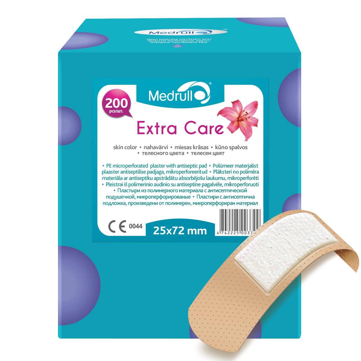 Medrull Набор пластырей  Extra Care , 2,5x7,2 см, №200 - Перевязочные материалы
