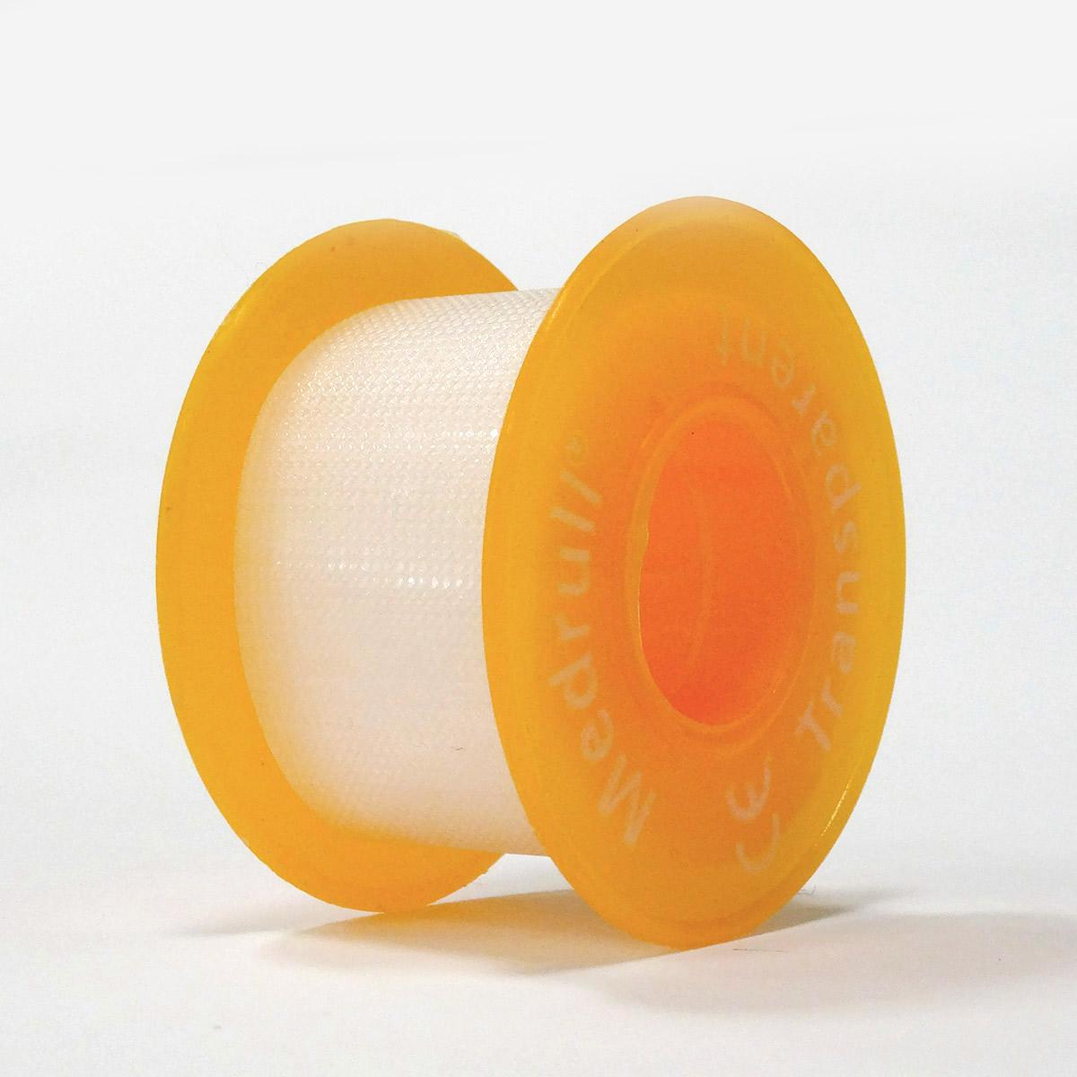 Medrull Лейкопластырь медицинский фиксирующий Transparent, рулонный на полимерной основе, 2,5х500 см4742225005427ПЛАСТЫРЬ В РУЛЛОНЧИКЕ TRANSPARENT/ ПРОЗРАЧНЫЙ Состав Полимерный материал. Структура материала Перфорированый полимерный материал на цинк – оксидной основе. Размер 2.5cм x 500cм