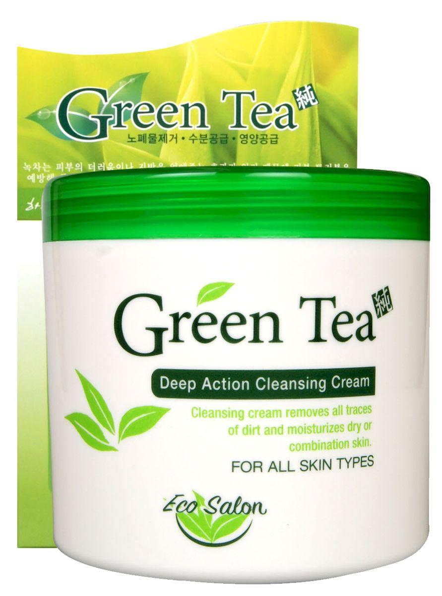 Whitecospharm Очищающий крем глубокого действия Eco salon с экстрактом зеленого чая, 500 мл451429Крем идеально подходит для ежедневного очищения кожи от загрязнений и макияжа, в том числе водостойкого. - Бережно воздействует на кожу, не нарушая ее естественный защитный слой - Экстракт зеленого чая успокаивает кожу, регулирует работу сальных желез и оказывает антиоксидантное воздействие - Масло макадамии питает и увлажняет Способ применения: нанесите средство на влажную кожу лица, вспеньте массажными движениями, затем смойте водой. Меры предосторожности: при возникновении раздражения на коже прекратить использование и обратиться к дерматологу. Хранить вдали от воздействия прямых солнечных лучей и в месте, недоступном для детей. Состав: минеральное масло, вода, пропиленгликоль, полисорбат 60, глицерилстеарат, циклопентасилоксан, циклогексасилоксан, сорбитансесквиолеат, стеариновая кислота, глицерилстеарат SE, масло макадамии, триэтаноламин, цетеариловый спирт, карбомер, ПЭГ-100 стеарат, пчелиный воск, метилпарабен, имидазолидинилмочевина, отдушка, пропилпарабен, диметикон, сок листьев алоэ вера, экстракт зеленого чая, бетаин, аллантоин, токоферил ацетат (витамин Е), динатрий ЭДТК, CI 19140, CI 42090.