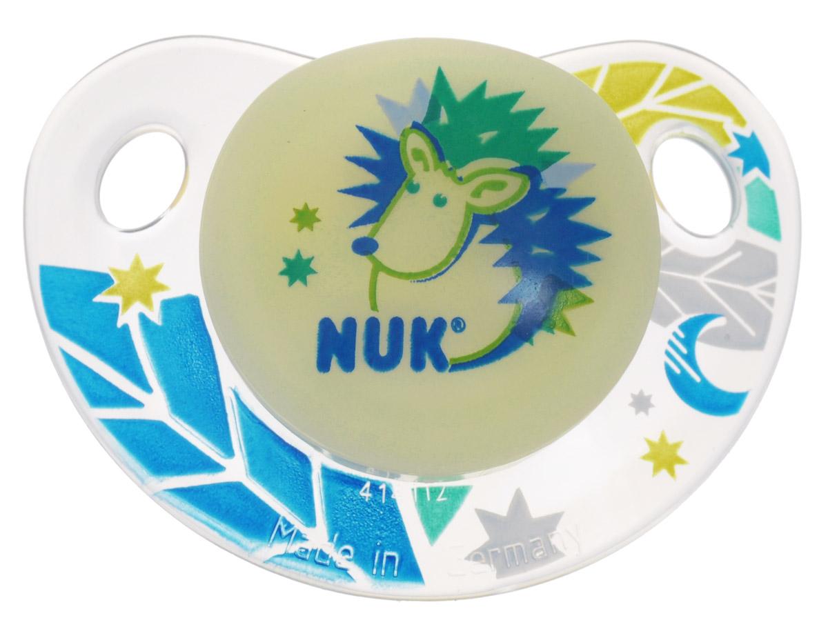 NUK Пустышка латексная для сна Ежик ортодонтическая от 0 до 6 месяцев nuk пустышка силиконовая ортодонтическая для ежик от 18 до 36 месяцев