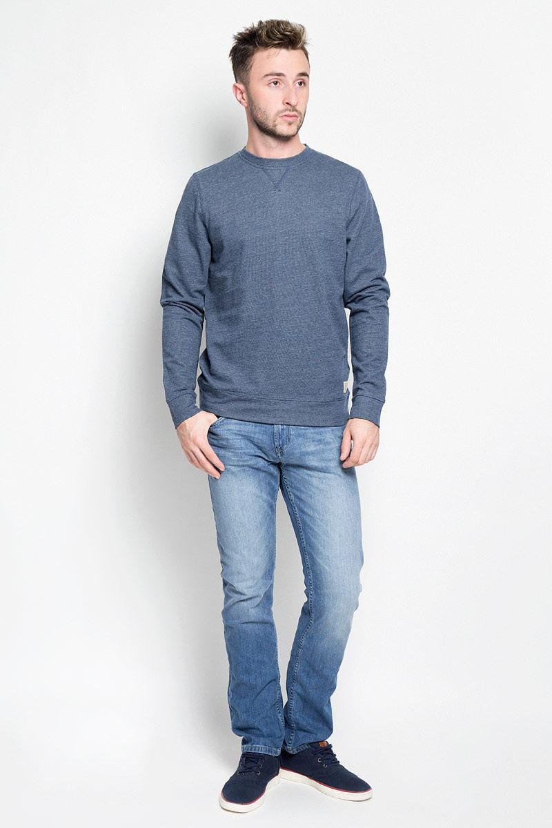 Джемпер мужской Tom Tailor, цвет: серо-синий. 2530239.00.10_6758. Размер XL (52) джемпер мужской tom tailor denim цвет бордовый 3022104 01 12 4257 размер xl 52