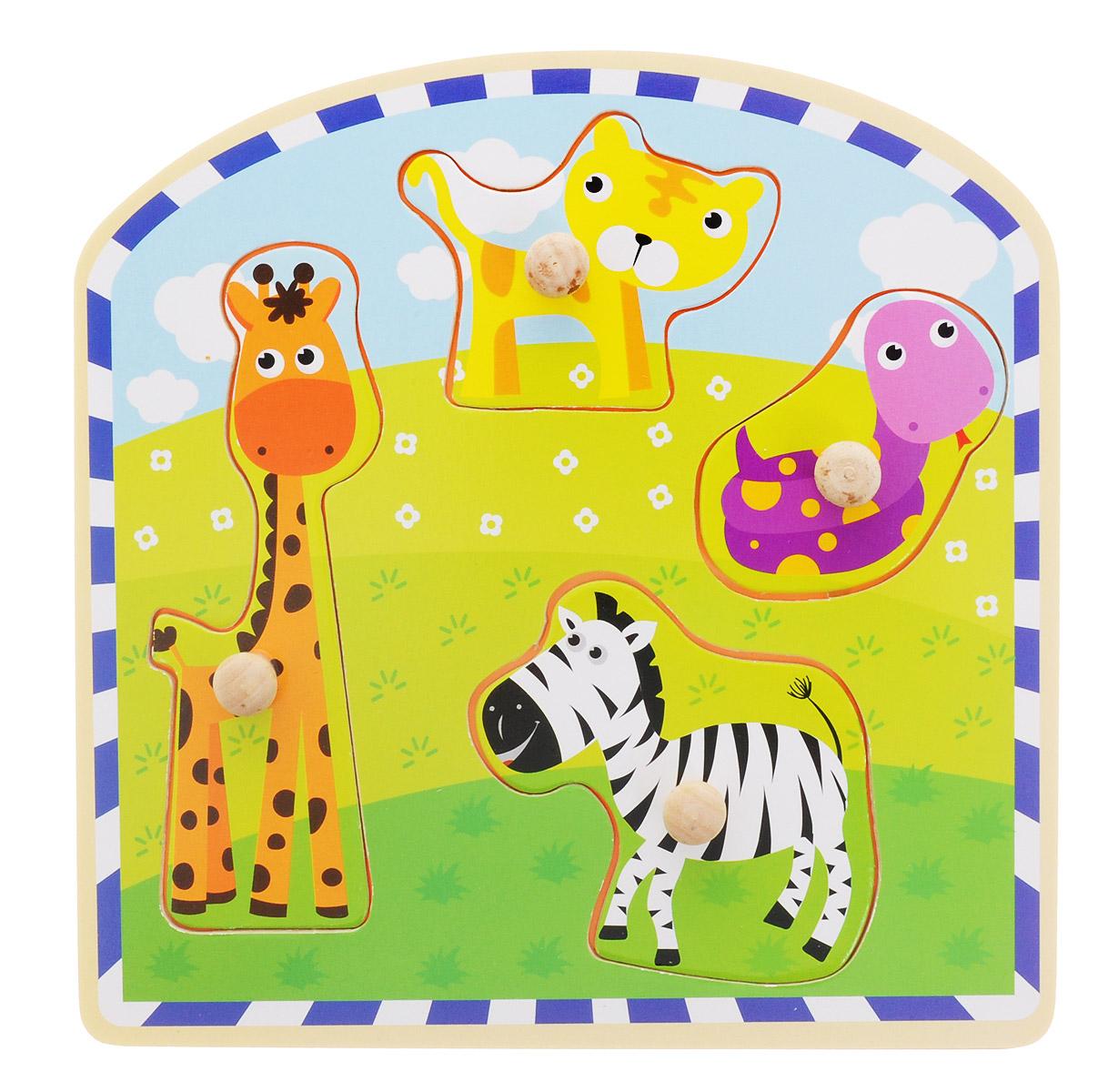 Bondibon Пазл для малышей Животные bondibon пазл для малышей подводный мир