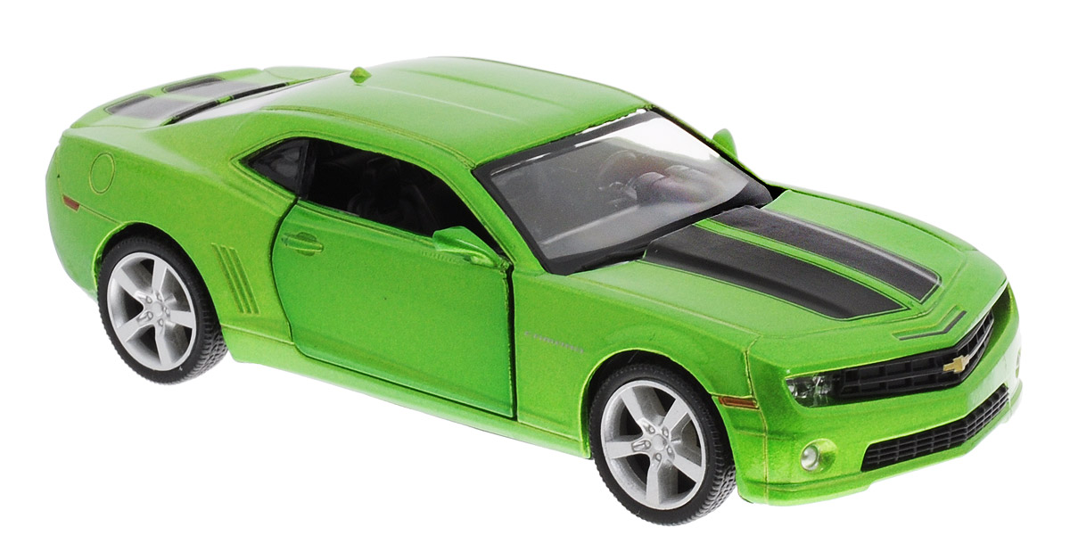 Uni-FortuneToys Модель автомобиля Chevrolet Camaro цвет зеленый металлик chevrolet camaro pitstop