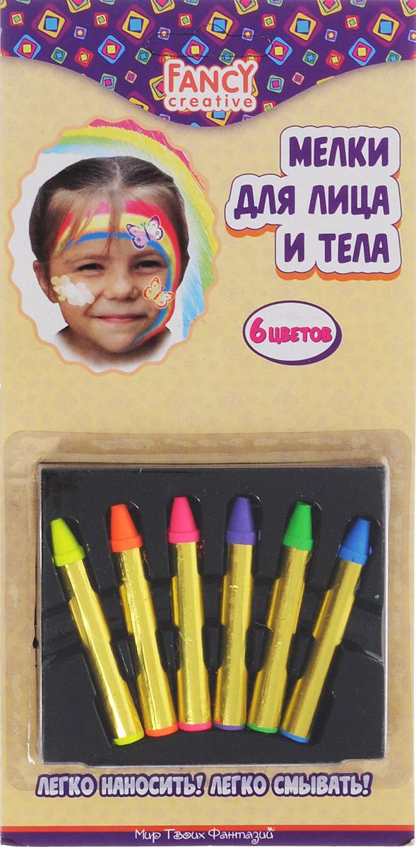 Набор мелков для лица и тела Fancy, 6 шт. FD020207FD020207Набор мелков для лица и тела Fancy непременно понравится вашему малышу и станет для него любимым развлечением в кругу друзей. В набор входят шесть ярких неоновых цветов (розовый, желтый, зеленый, синий, фиолетовый, оранжевый). Они легко наносятся и смываются.Мелки помогут украсить лицо и тело различными рисунками, идеально подойдут для грима на новогодний утренник, карнавал или любой другой детский праздник. Порадуйте вашего ребенка таким замечательным подарком!Уважаемые клиенты! Обращаем ваше внимание на возможные изменения в дизайне упаковки. Качественные характеристики товара остаются неизменными. Поставка осуществляется в зависимости от наличия на складе. Характеристики: Общая масса мелков: 22 г. Размер мелка: 5,7 см х 0,8 см.Размер упаковки: 10,5 см х 21,5 см х 1,3 см.Изготовитель: Китай.