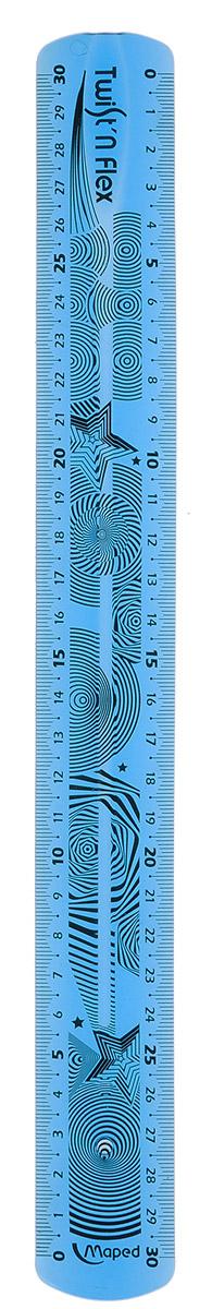 Maped Линейка Twistnflex цвет голубой 30 см027900Линейка Maped Twistn Flex используется как традиционный инструмент для черчения и отрисовки полей в школьных тетрадях и как своеобразная игрушка для снятия напряжения.Гибкий пластик можно гнуть и сворачивать, не опасаясь его сломать. Гибкая линейка голубого цвета длиной 30 см поместится в любой пенал, ведь ее можно скрутить или сложить пополам. Градуировка нанесена на оба края линейки УФ-чернилами, которые не сотрутся при длительном использовании.