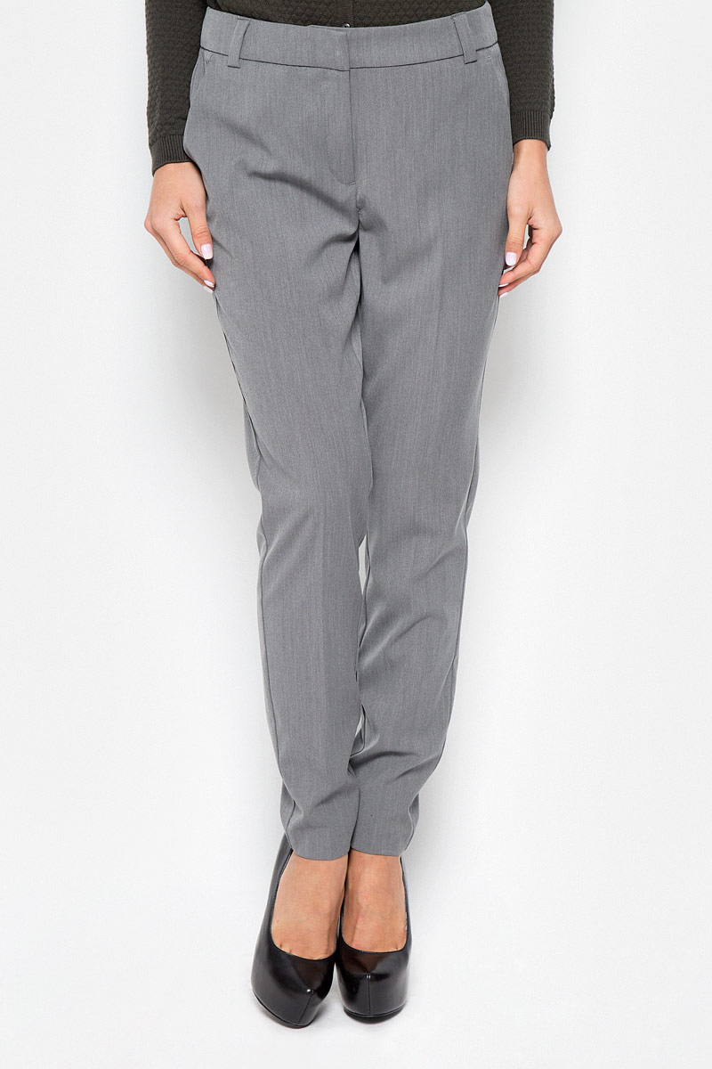 Брюки женские Vero Moda, цвет: серый меланж. 10146832. Размер 36 (42) брюки женские vero moda цвет черный 10183272 размер s 32 42 32