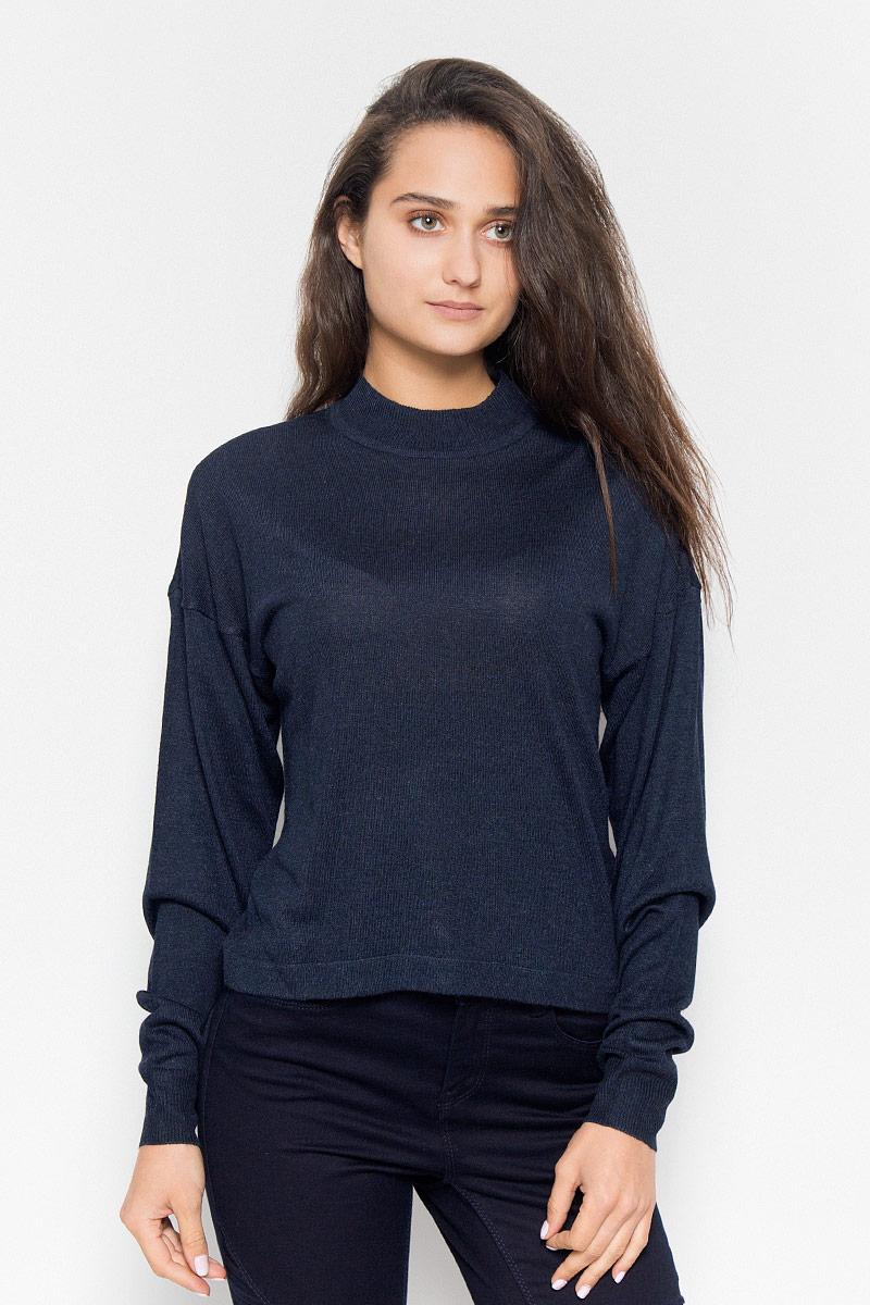 Джемпер женский Vero Moda Noisy May, цвет: темно-синий. 10145560. Размер S (42) vero moda свитер с длинными рукавами