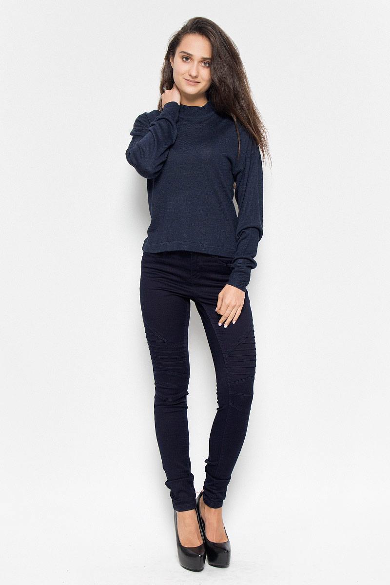 Купить Джемпер женский Vero Moda Noisy May, цвет: темно-синий. 10145560. Размер S (42)