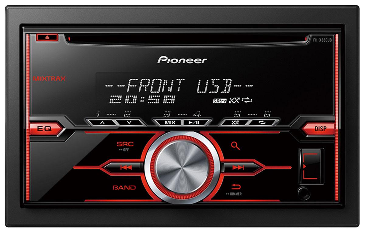 Pioneer FH-X380UB автомобильный ресивер10242982DIN ресивер Pioneer FH-X380UB позволит вам воспроизвести музыку, сохраненную на USB, CD, а так же с подключенного Android смартфона. Вы также можете принимать широкий диапазон радиостанций FM и AM диапазона.Pioneer FH-X380UB оснащен встроенным усилителем на полевых транзисторах MOSFET с выходной мощностью 50 Вт на каждый из 4-х каналов. У этой автомобильной аудиосистемы также есть 2 RCA выхода предусилителя, что позволяет подключать к ней другие компоненты, такие как сабвуфер или дополнительный усилитель с тыловыми или фронтальными акустическими системами.