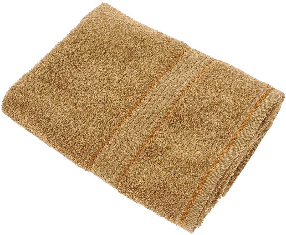 Полотенце махровое Aisha Home Textile Соты, цвет: коричневый, 50 х 90 смУзТ-ПМ-112-08-20кПолотенце Aisha Home Textile Соты выполнено из натуральной гладкокрашеной махровой ткани (100% хлопок). Изделие отлично впитывает влагу, быстро сохнет, не линяет, сохраняет яркость цвета и не теряет форму даже после многократных стирок. Изысканный бордюр с рисунком в виде сот придает изделию элегантный внешний вид, поэтому оно подойдет для любого интерьера ванной комнаты. Полотенце очень практично и неприхотливо в уходе. Оно станет достойным выбором для вас и приятным подарком для ваших близких. Полотенце упаковано в стильную подарочную коробку.