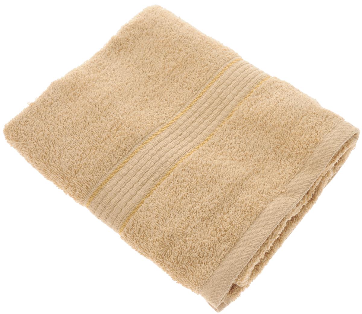 Полотенце махровое Aisha Home Textile Соты, цвет: светло-коричневый, 50 х 90 смУзТ-ПМ-112-08-23кПолотенце Aisha Home Textile Соты выполнено из натуральной гладкокрашеной махровой ткани (100% хлопок). Изделие отлично впитывает влагу, быстро сохнет, не линяет, сохраняет яркость цвета и не теряет форму даже после многократных стирок. Изысканный бордюр с рисунком в виде сот придает изделию элегантный внешний вид, поэтому оно подойдет для любого интерьера ванной комнаты.Полотенце очень практично и неприхотливо в уходе. Оно станет достойным выбором для вас и приятным подарком для ваших близких. Полотенце упаковано в стильную подарочную коробку.