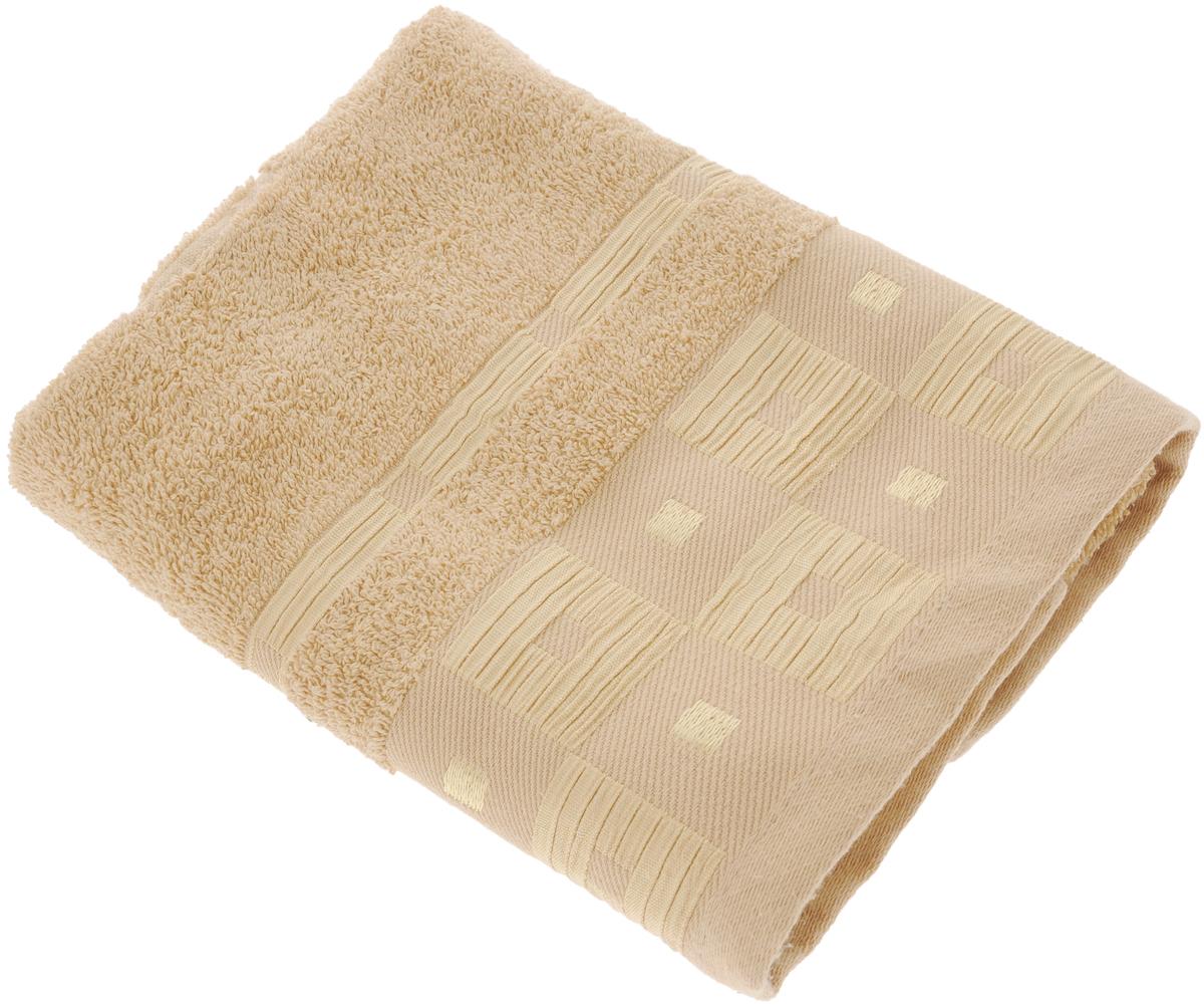 Полотенце махровое Aisha Home Textile Квадраты, цвет: шампань, 50 х 90 смУзТ-ПМ-112-09-29к_коричневый1Полотенце Aisha Home Textile Квадраты выполнено из натуральной гладкокрашеной махровой ткани (100% хлопок). Изделие отлично впитывает влагу, быстро сохнет, не линяет, сохраняет яркость цвета и не теряет форму даже после многократных стирок. Изысканный бордюр с геометрическим рисунком придает изделию элегантный внешний вид, поэтому оно подойдет для любого интерьера ванной комнаты. Полотенце очень практично и неприхотливо в уходе. Оно станет достойным выбором для вас и приятным подарком для ваших близких. Полотенце упаковано в стильную подарочную коробку.