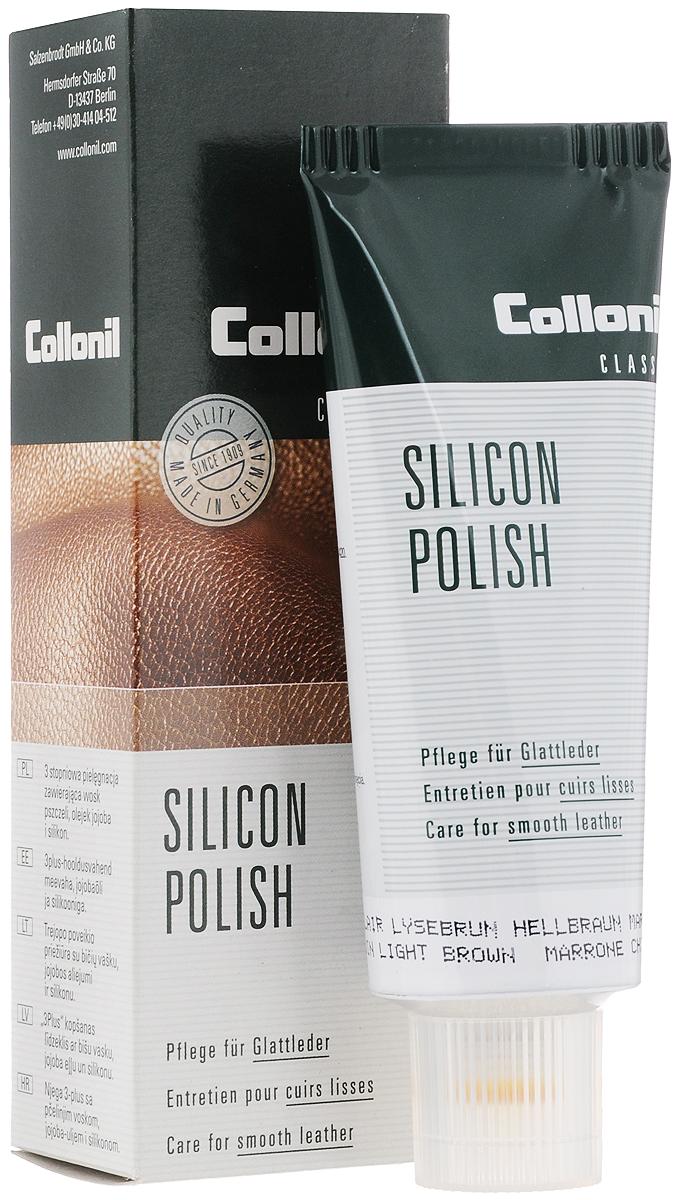 Крем для обуви, одежды и мебели Collonil Silicon Polish, цвет: светло-коричневый (331), 75 мл3143 331Крем для обуви, одежды и мебели Collonil Silicon Polish - это превосходный пропитывающий крем, который чистит и защищает гладкую кожу и обеспечивает уход за ней. Содержит пчелиный воск, масло тропических растений и силикон. Применяется для кожаной одежды, сумок, мебели и других изделий из гладкой кожи. Быстро впитывается, не пачкает и не оставляет следов.