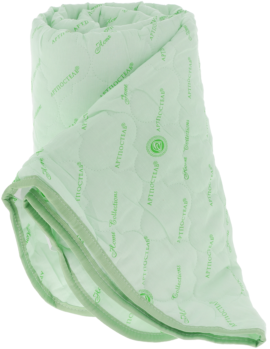Наматрасник стеганый АртПостель, цвет: зеленый, 160 х 200 см3036_зеленыйНаматрасник АртПостель с наполнителем из полого сильно извитого силиконизированного волокна сделает ваш сон еще комфортнее. Чехол, выполненный из поликоттона, оформлен декоративной стежкой и кантом. Благодаря современным технологиям обработки, волокна наполнителя двигаются внутри изделия независимо друг от друга. Данное преимущество придает изделию пышность и упругость. Волокна не вызывают аллергии, способствуют циркуляции воздуха в изделии, не впитывают запахи. Наматрасник может подвергаться многочисленным стиркам, не теряя своих первоначальных качеств. Наматрасник оснащен резинками по углам, поэтому прочно удерживается на матрасе и избавляет вас от необходимости часто поправлять. Изделие защитит матрас от грязи и пыли и придаст дополнительный комфорт вашему спальному месту. Мягкий и легкий, наматрасник прекрасно подойдет для жестких кроватей и диванов, делая ваш сон спокойным и приятным. Наматрасник упакован в прозрачный пластиковый чехол на змейке с ручкой, что является чрезвычайно удобным при переноске. Материал чехла: 50% хлопок, 50% полиэстер (поликоттон). Материал наполнителя: 100% полиэфирное волокно (термофайбер).