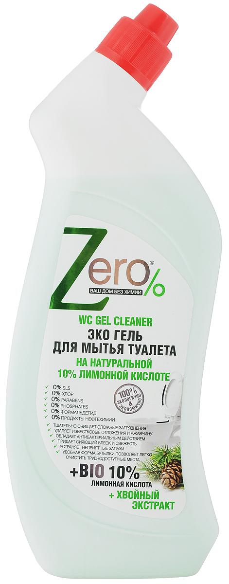 """Эко гель """"Zero"""" - это натуральное, эффективное и безопасное средство для регулярной уборки   унитаза без вредных и опасных для здоровья химических веществ. В его основу были положены   компоненты, которые использовали когда еще не существовало бытовой химии. Лимонная кислота тщательно отбеливает и очищает загрязнения, удаляет известковый налет и   ржавчину, дезинфицирует и придает сияющий блеск.Хвойный экстракт нейтрализует опасные микробы, подавляет рост бактерий и устраняет   неприятные запахи.  Товар сертифицирован. Как выбрать качественную бытовую химию, безопасную для природы и людей. Статья OZON Гид"""