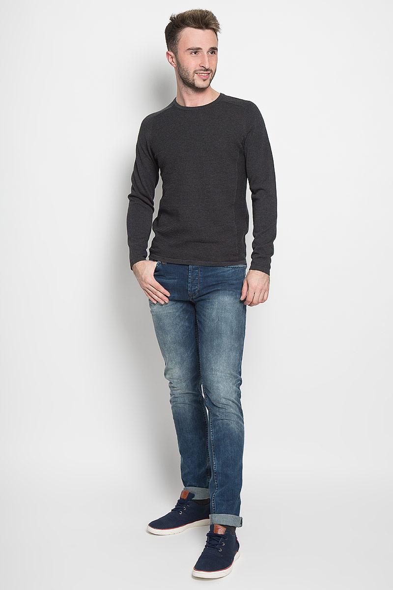 Джемпер мужской Selected Homme, цвет: темно-серый. 16051306. Размер XL (50) водолазка мужская selected homme identity цвет молочный 16052854 размер xl 50