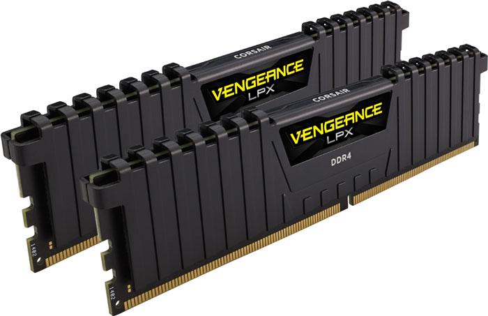 Corsair Vengeance LPX DDR4 2x8Gb 2666 МГц комплект модулей оперативной памяти (CMK16GX4M2A2666C16)CMK16GX4M2A2666C16Модули памяти Vengeance LPX разработаны для более эффективного разгона процессора. Теплоотвод выполнен из чистого алюминия, что ускоряет рассеяние тепла, а восьмислойная печатная плата значительно эффективнее распределяет тепло и предоставляет обширные возможности для разгона. Каждая интегральная микросхема проходит индивидуальный отбор для определения уровня потенциальной производительности.Форм-фактор DDR4 оптимизирован под новейшие материнские платы серии Intel X99/100 Series и обеспечивает повышенную частоту, расширенную полосу пропускания и сниженное энергопотребление по сравнению с модулями DDR3. В целях обеспечения стабильно высокой производительности модули Vengeance LPX DDR4 проходят тестирование совместимости на материнских платах серии X99/100 Series. Имеется поддержка XMP 2.0 для удобного разгона в автоматическом режиме.Максимальная степень разгона ограничивается рабочей температурой. Уникальный дизайн теплоотвода Vengeance LPX обеспечивает оптимальный отвод тепла от интегральных микросхем в канал охлаждения системы, чтобы вы могли добиться большего.Vengeance LPX будет готов к появлению первых материнских плат Mini-ITX и MicroATX для памяти DDR4. Его компактный форм-фактор оптимально подходит для размещения в небольших корпусах или в системах, где требуется оставить свободным максимум внутреннего пространства.