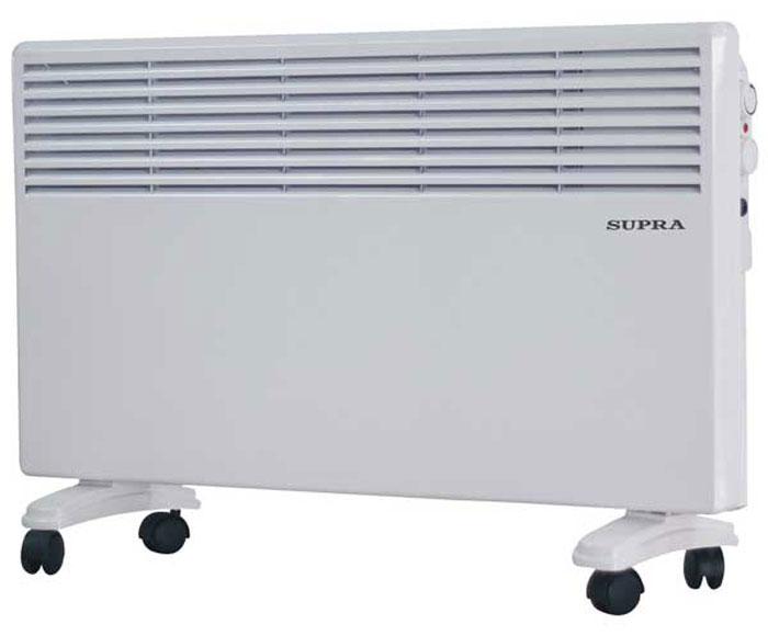 Supra ECS-410, White обогревательECS-410 whiteSupra ECS-410 - это электрический обогреватель конвективного типа.Холодный воздух, проходя через прибор и его нагревательный элемент, нагревается и выходит сквозь решетки-жалюзи, незамедлительно начиная обогревать помещение. Вся конструкция Supra ECS-410 направлена на равномерное распределение тепла для обогрева с максимальным комфортом. Бесшумная работа.В комплектемонтажная планка для настенного крепления иколёсики для напольного размещения и удобного перемещения.